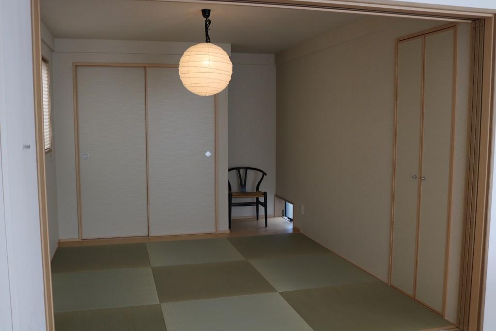 シンプルにまとめられた和室